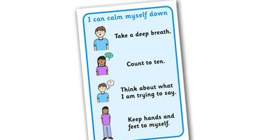 I Can Calm Myself Down Prompt Display Signs - SEN, Calm, behaviour