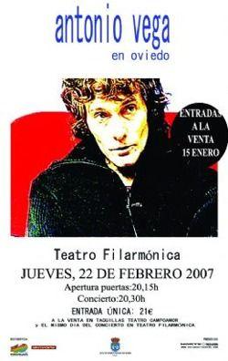 Resultado de imagen de cartel concierto antonio vega