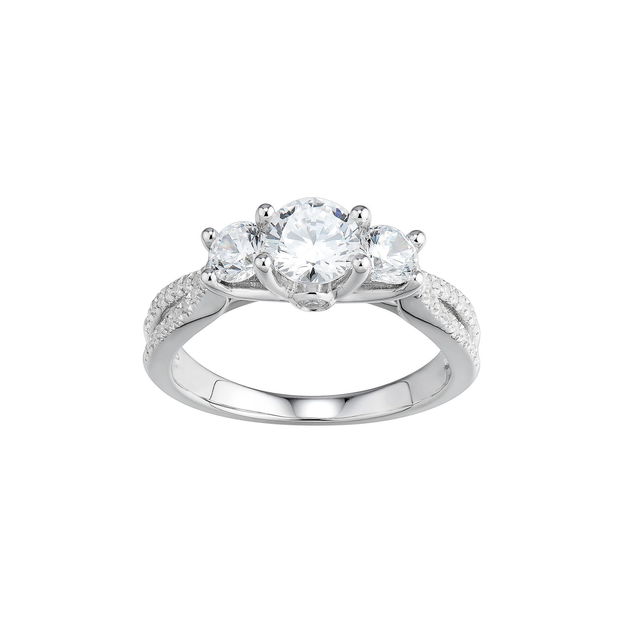 solitaire rings solitire diamond simulated ring classic faux products engagement