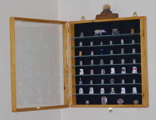 Thimble Case with Glass Door | Thimble display cabinet wall ...