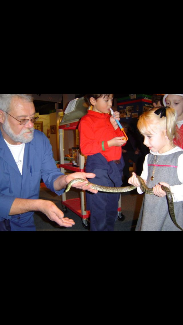 Riley love of snake began at this children's museum...she was 3 in this picture...her face says it all...2 years later she had her own snake.