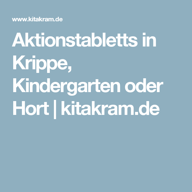 Aktionstabletts in krippe kindergarten oder hort for Raumgestaltung psychologie