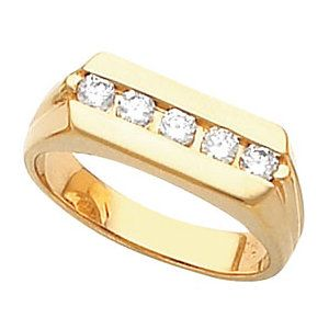 10kt Yellow Gold Men S Round 5 Stone Ring St9541 55947 P Price 369 99 14kt Yellowgold Gold Ring 5stonering Rings For Men Fine Jewels Rings