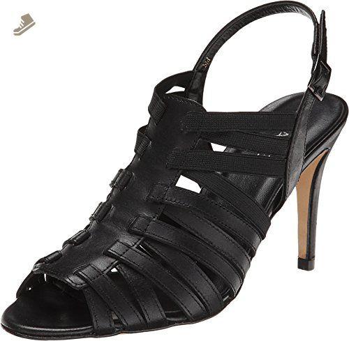 Vaneli Women's Elana Black Bulgaro/Black Elastic Pump 9.5 M (B) - Vaneli
