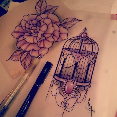 Bird Cage Tattoo Sleeve Google Search Cage Tattoos Bird Tattoo Sleeves Birdcage Tattoo