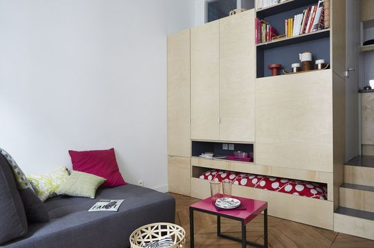 studio tudiant paris 17m2 bien am nag fonctionnel et pratique am nagement et d co. Black Bedroom Furniture Sets. Home Design Ideas