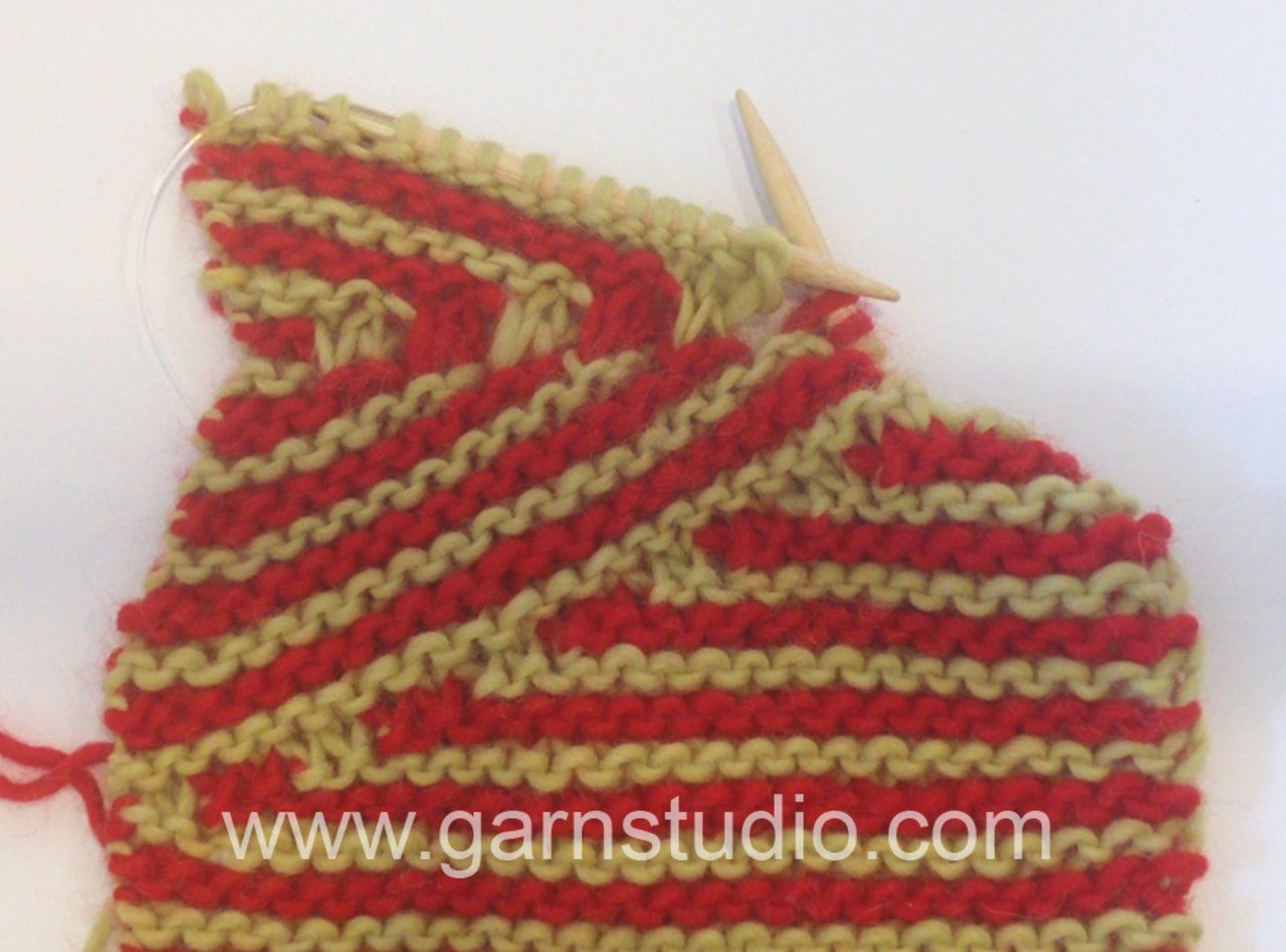 DROPS Knitting Tutorial: How to increase to DROPS 155-1 | Knitting ...
