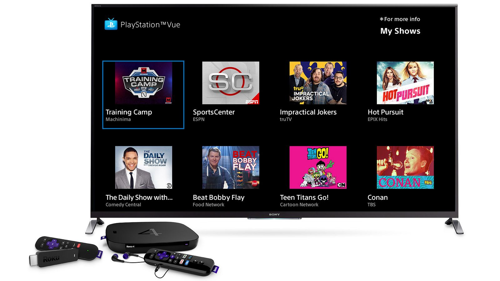 PlayStation Vue comes to your Roku player Playstation
