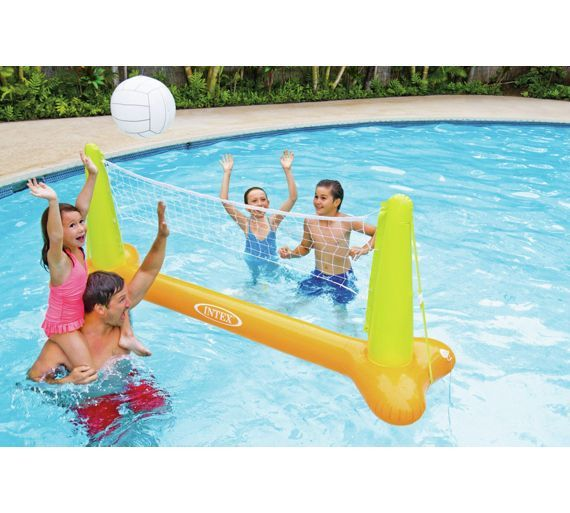 Buy Intex Inflatable Pool Volleyball Game At Argos Co Uk Your Online Shop For Water Toys And Games Paddling Pool Volleyball Net Outdoor Toys Inflatable Pool