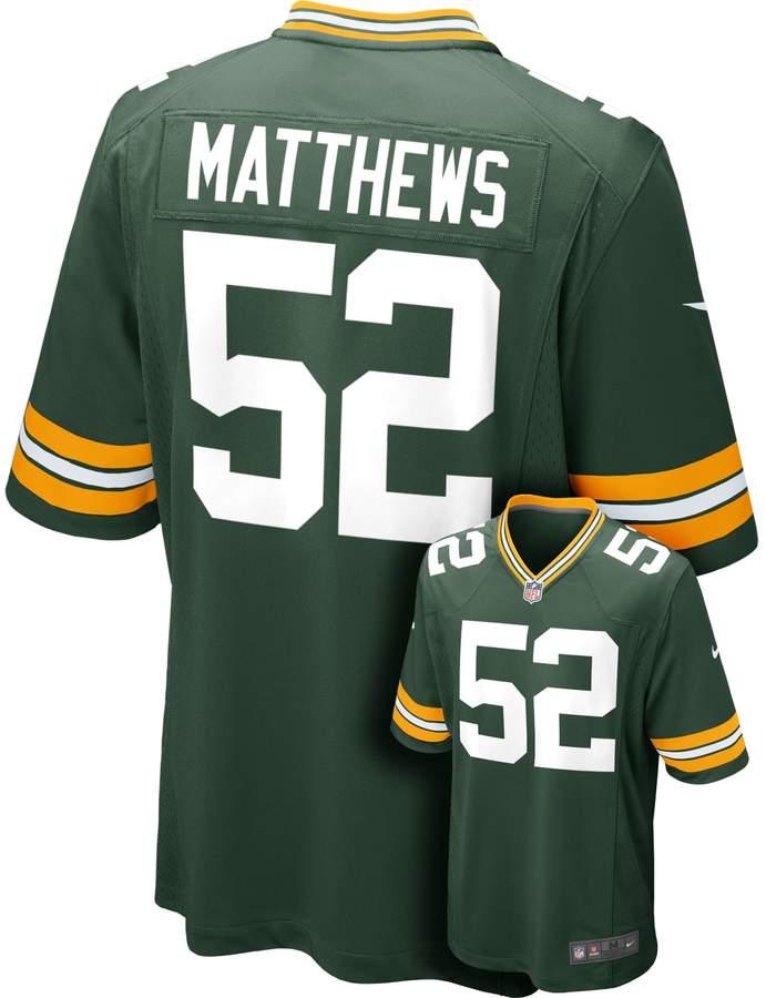 separation shoes dafca 984b9 Men's Nike Green Bay Packers Clay Matthews Game NFL Replica ...