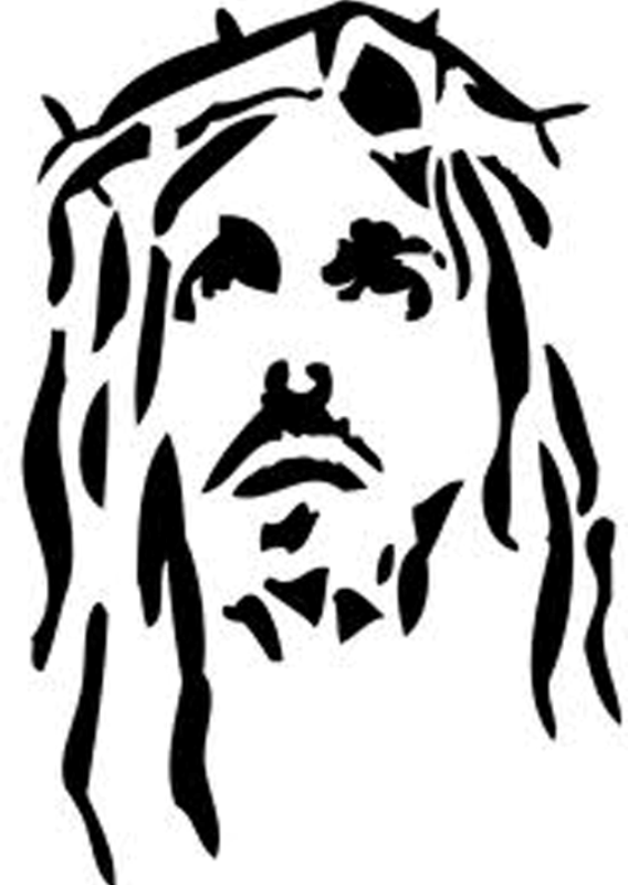 Tribal Jesus Tattoo : tribal, jesus, tattoo, Black-tribal-jesus-head-tattoo-design.png, (568×800), Jesus, Drawings,, Silhouette, Stencil,, Stencil
