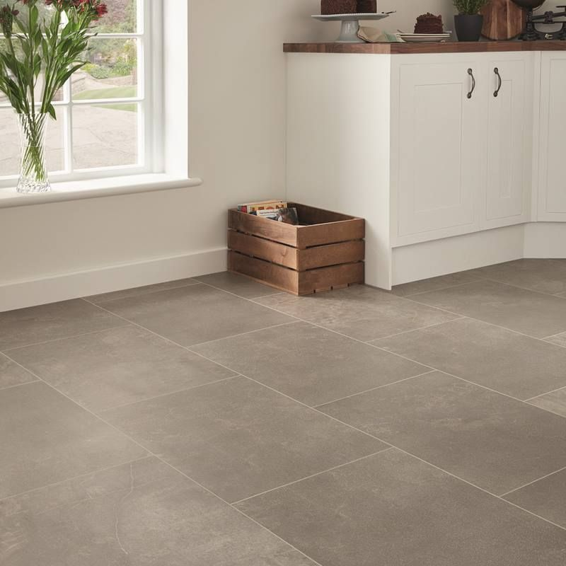Karndean Fumo Grey Stone Effect Kitchen Flooring Vinyl Tile Flooring Kitchen Kitchen Flooring Vinyl Flooring Kitchen