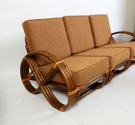 Etsy Vintage Bamboo Furniture: Bamboo And Rattan Modular Sofa Made By Calif Asia 1960