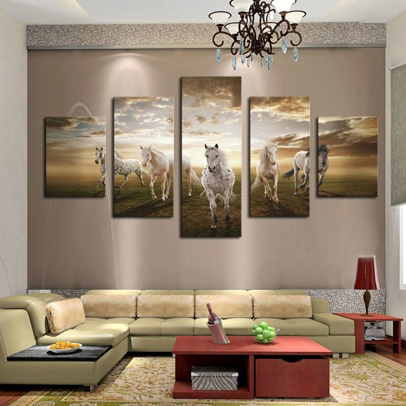 Wall Art Large Chinese Sky Canvas Pictures For Home Interiors