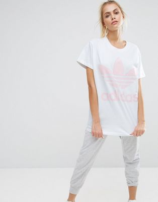 4fa651502cdb Adidas | adidas Originals Big Trefoil Tee In White And Pink ...