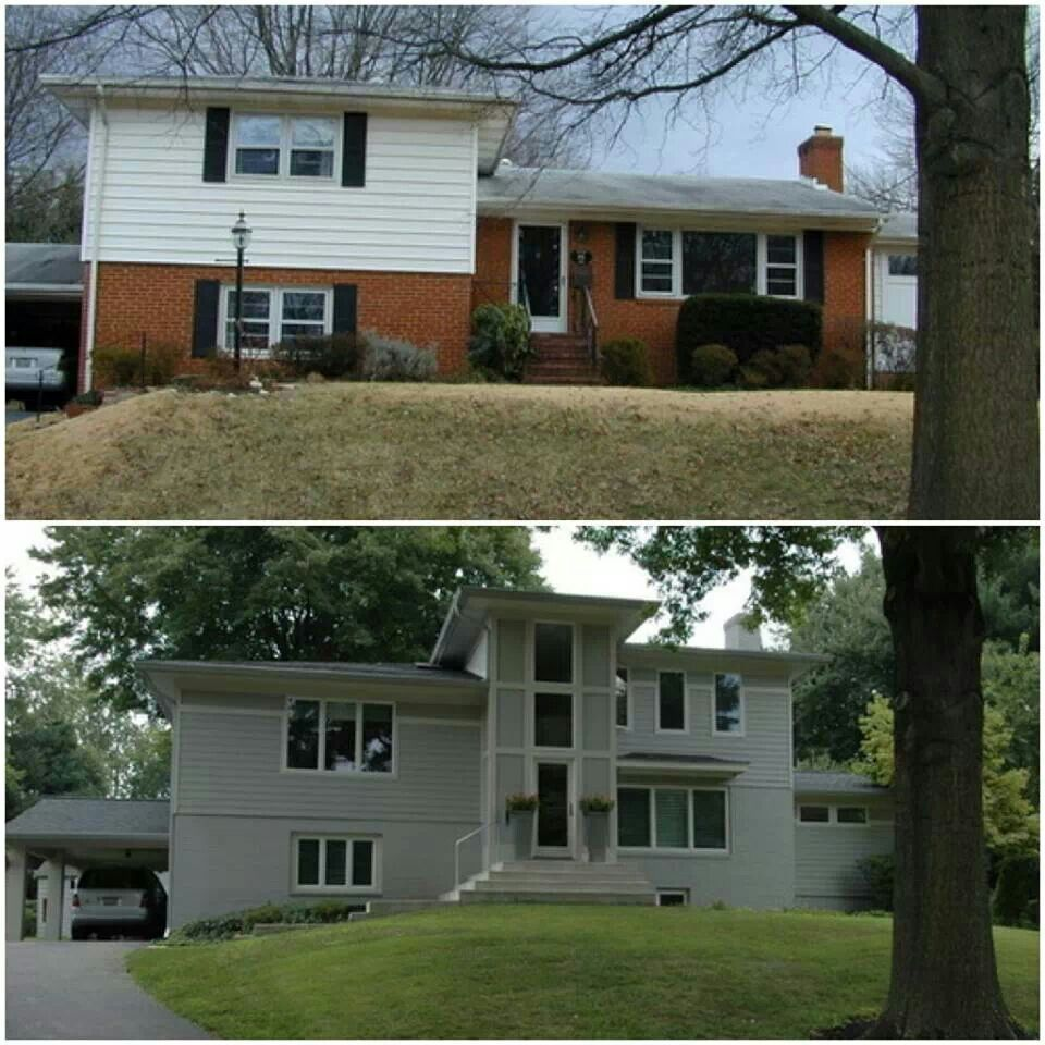 Split Level Home Exterior Makeover: Exterior Update - Before And After