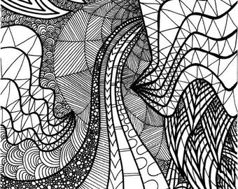 Happiness Quote Coloring Page By ColoringPages4U On Etsy