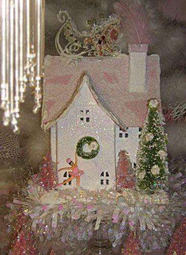Santa's Sleigh House in Pink