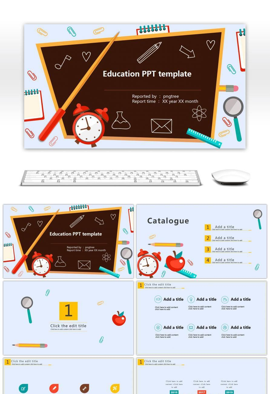 Ppt Template For Time Education Publicidade