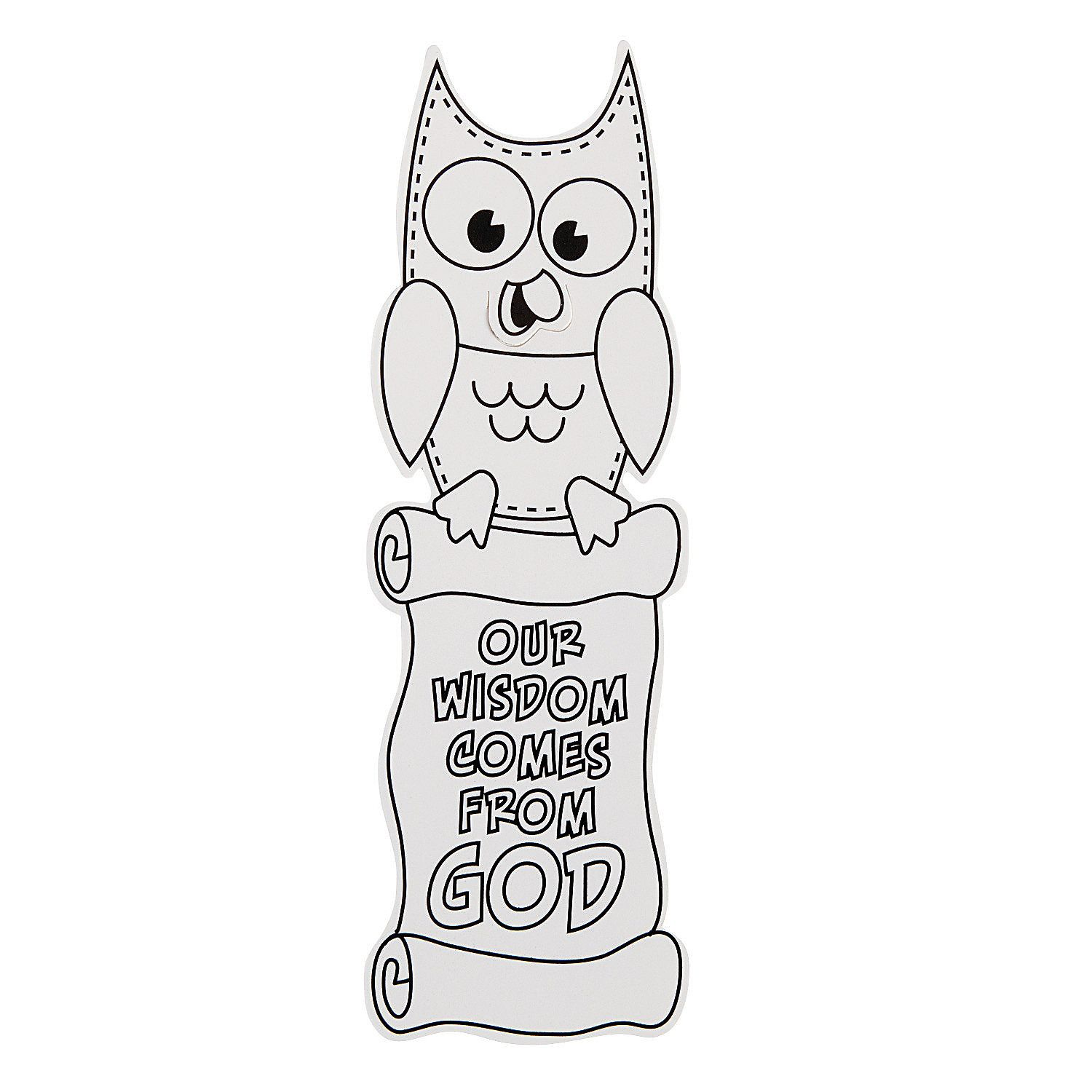 Color Your Own Our Wisdom Comes From God Bookmark