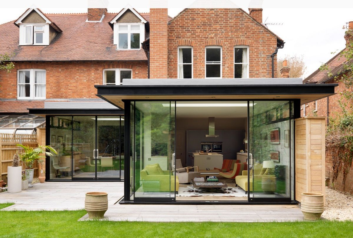 Dinning Idea Flat Roof Extension House Extension Design House Extensions