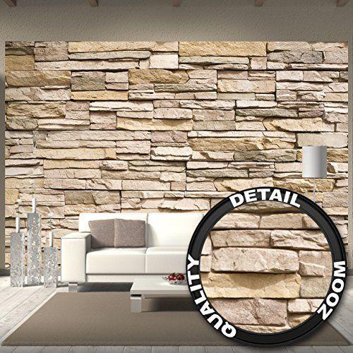 ... Stonewall   Vliestapete Quadrat | Tapete Steinoptik Beige Braun | Vlies  Wandbild XXL Steinwand Stein Mauer Wand 3D Foto Schlafzimmer Wohnzimmer  Küche