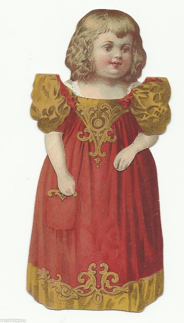 Vintage Victorian Paper Doll Girl