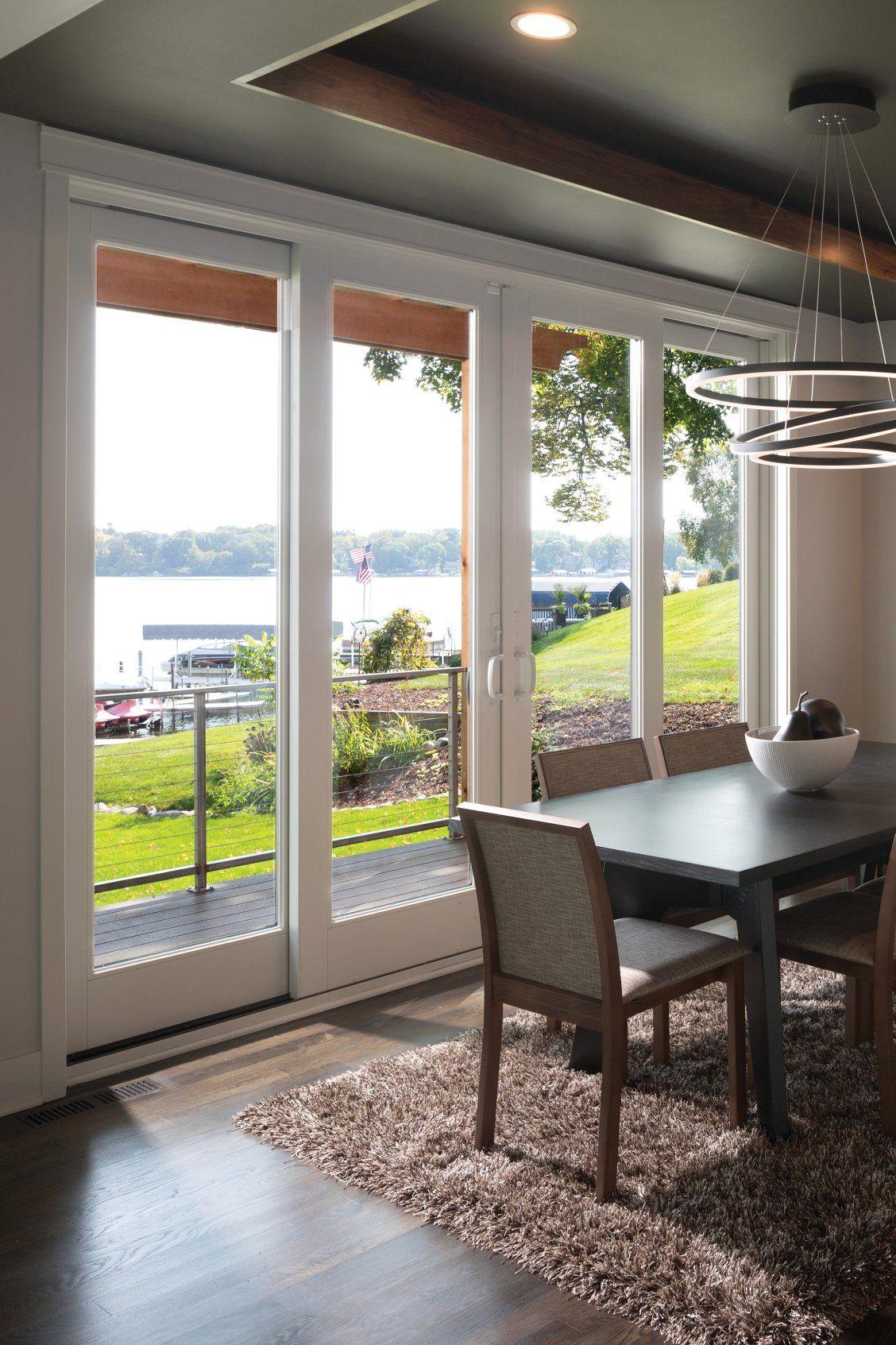 Indoor Outdoor Patio And Dining Room Transition Living Room Patio Doors Living Room Sliding Doors Kitchen Patio Doors