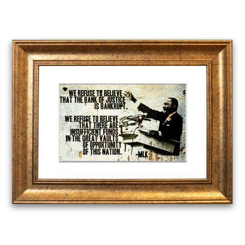 East Urban Home Gerahmter Grafikdruck Neues Zitat von Martin Luther King | Wayfair.de