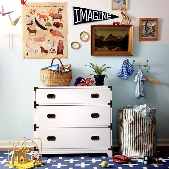White Campaign Dresser | The Land of Nod