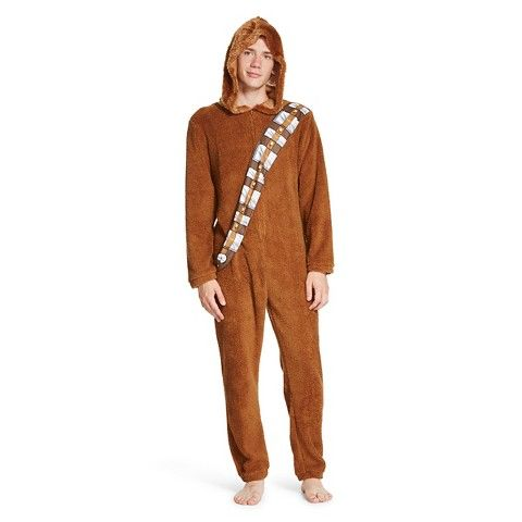 Mens Star Wars Chewbacca Hooded Union Suit Brown Halloween - Hoodie will turn you into chewbacca from star wars