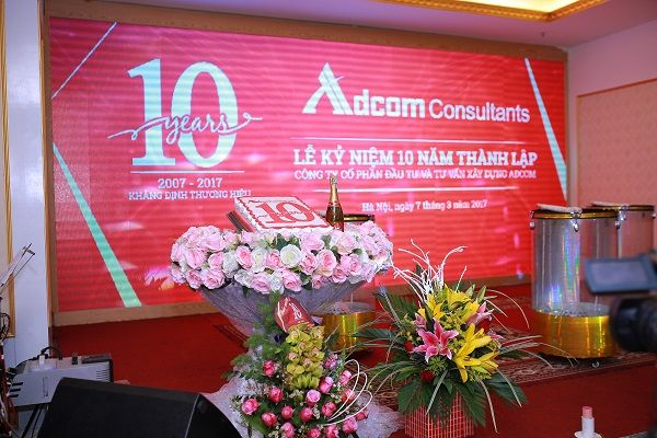 Lễ kỷ niệm 10 năm thành lập công ty Cổ phần và tư vấn ADCOM