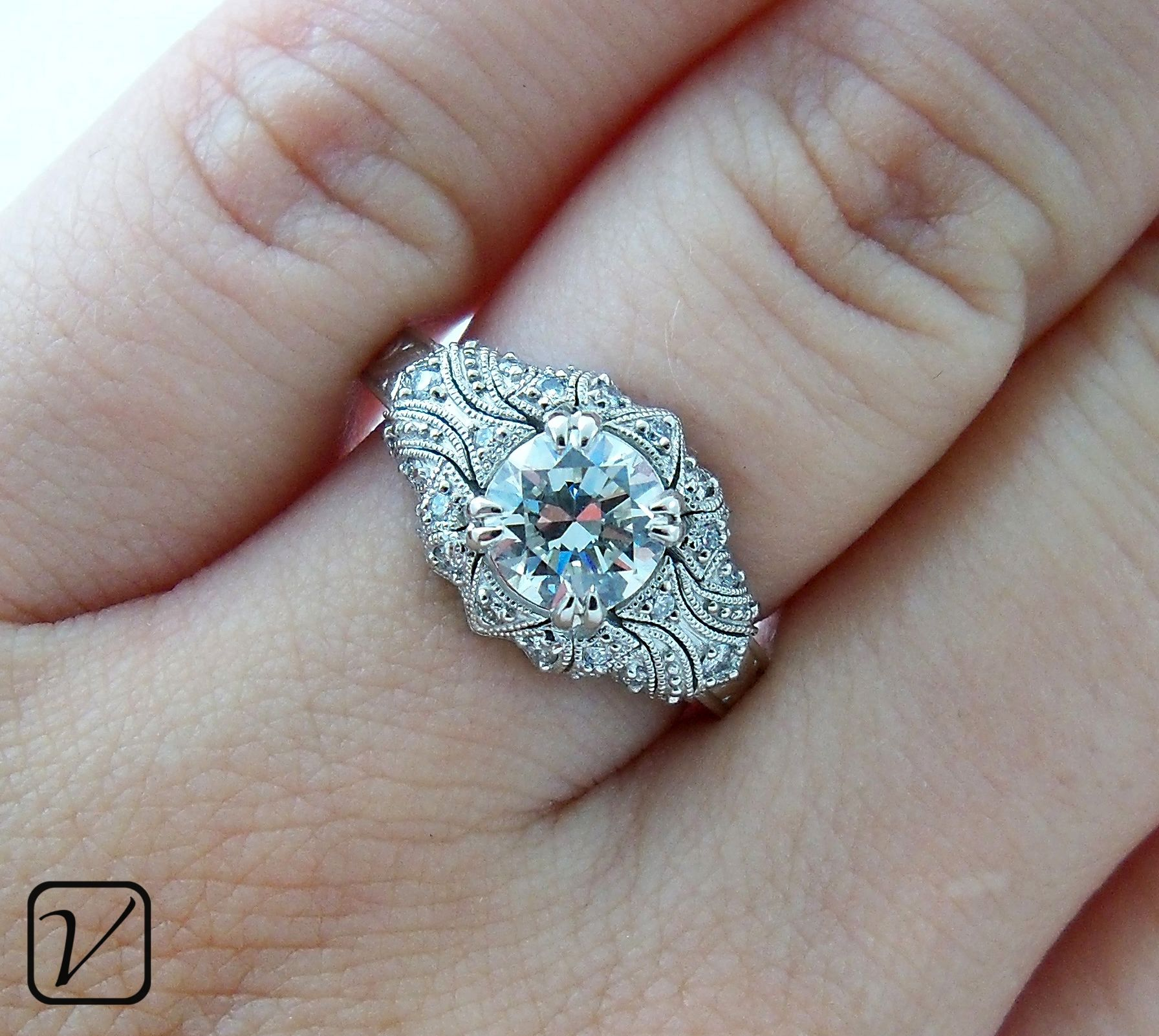 Amazing Antique Engagement Ring A Custom Design From Vanessa Nicole Jewels LOVE