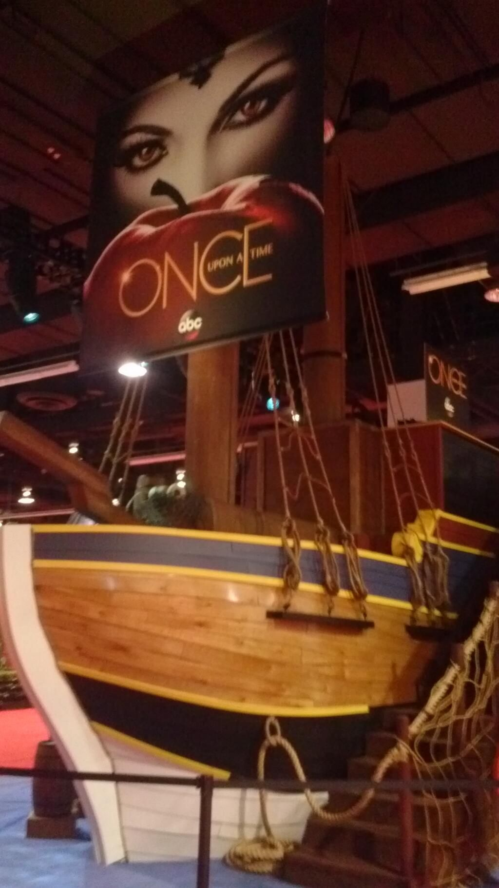 Cool Shot Of The Once Upon A Time Pirate Ship Booth At Comic Con