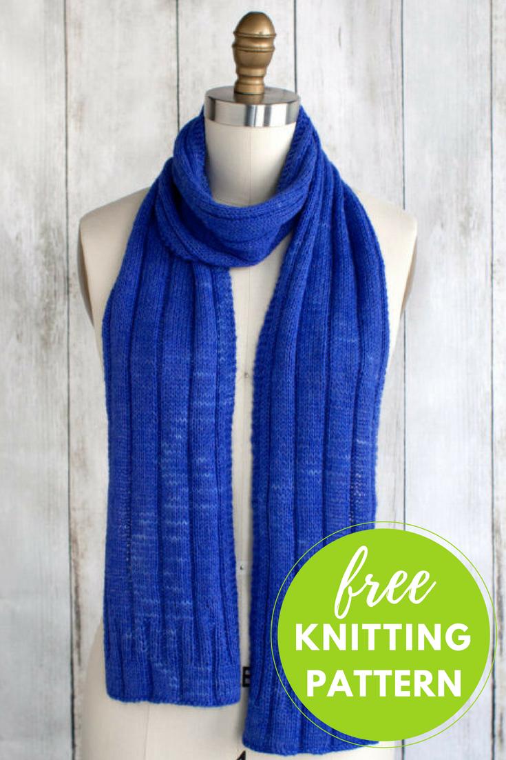 Sapphire Scarf Free Knitting Pattern   Blusas lindas y Blusas