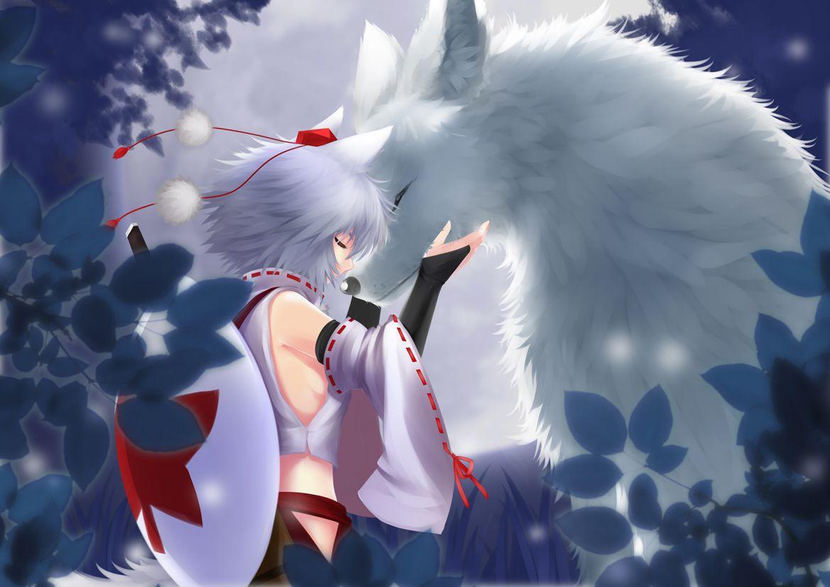 犬走椛と狼 狼龍 のイラスト pixiv イラスト 東方 かわいい 龍 イラスト
