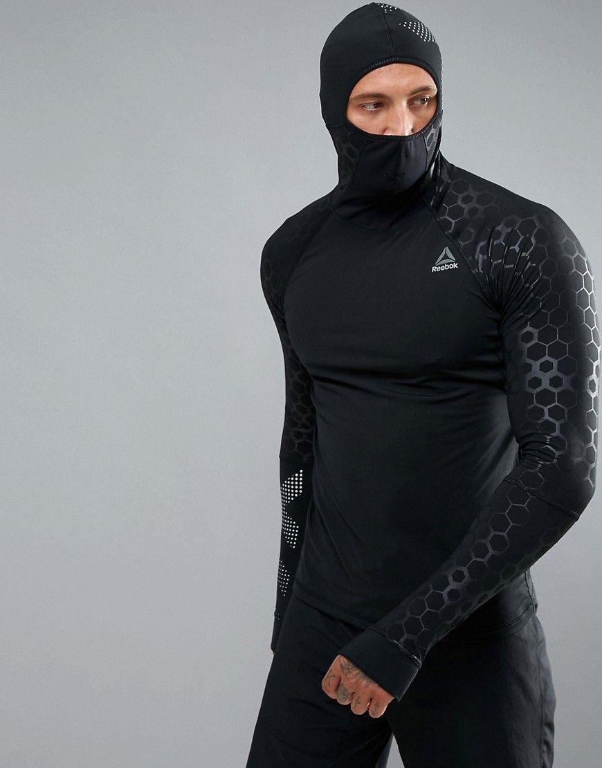 Reebok Men's Compression Hoodie, Crosffit compression shirt
