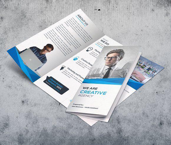 Trifold By Creative Idea On Creativemarket Brochure Design