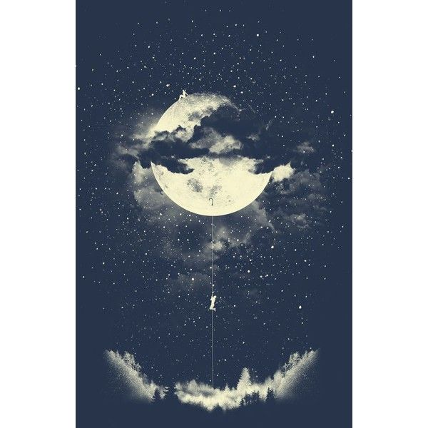 Moon Climbing Art Print Liked On Polyvore Featuring Home Home Decor Wall Art Moon Home Decor And Moon Wall Art Moon Wall Art Galaxy Artwork Art