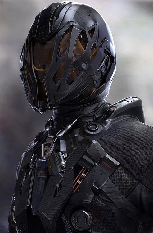 G Suit Futuristic Helmet Armor Concept Sci Fi Armor