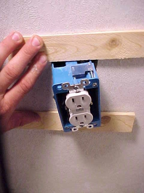 How to fix a loose electrical wall outlet by mark bower fixing a loose electrical outlet box mobile home repair sciox Choice Image