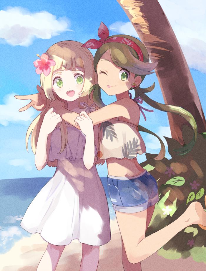 Lillie and Mallow | Pokémon Sun and Moon