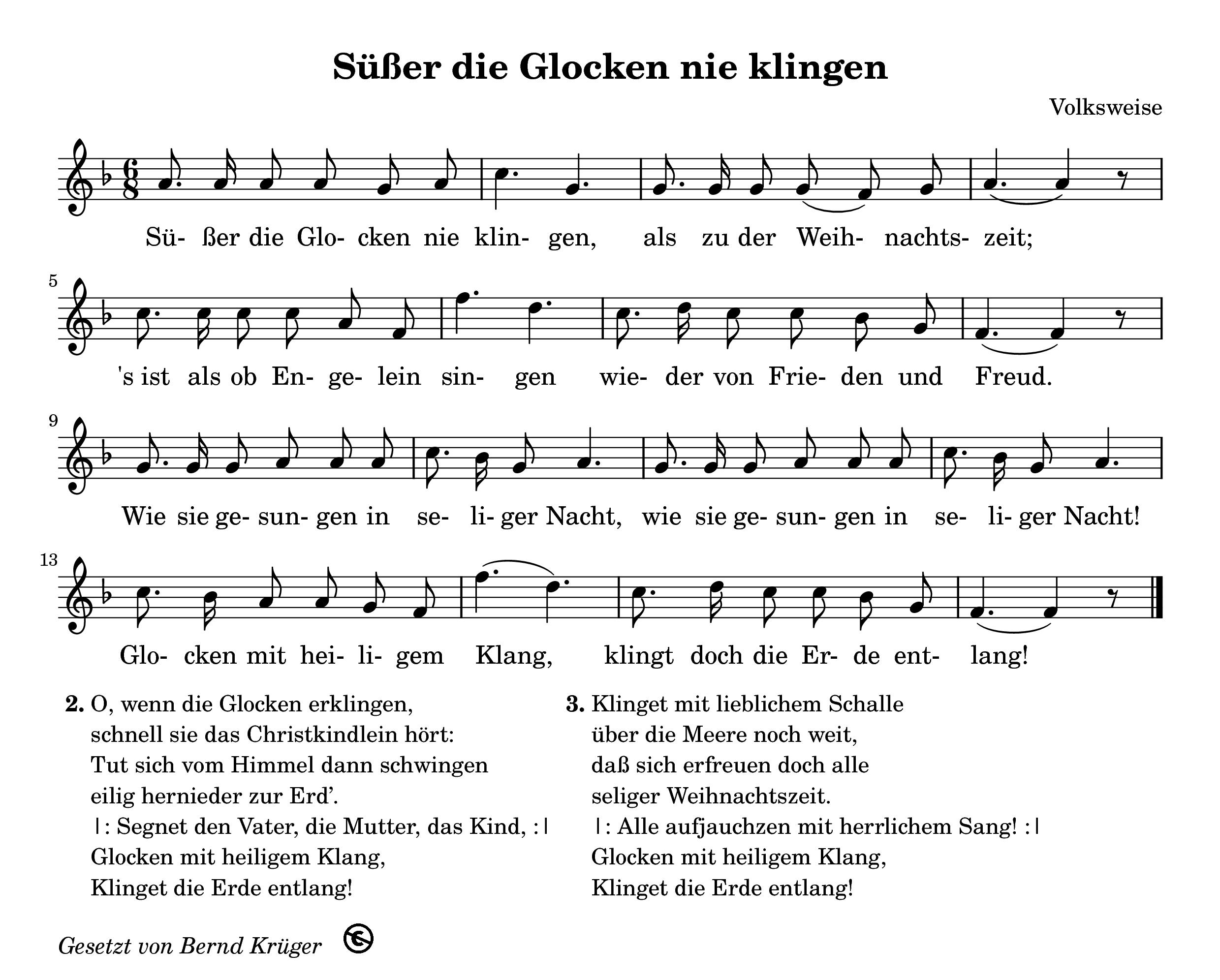 süße fröhliche Lieder