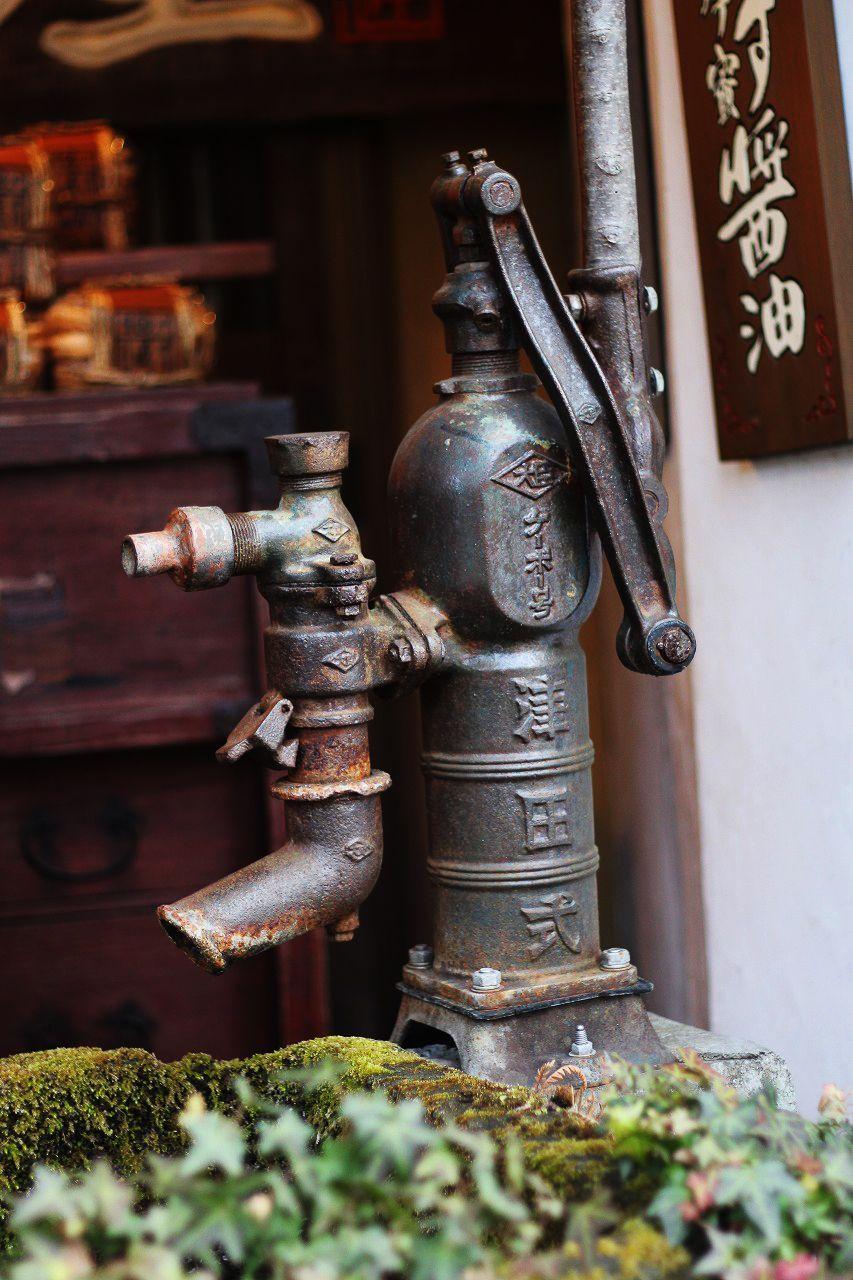 湯布院 井戸ポンプ