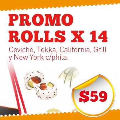 SushiPhone, el mejor delivery de Sushi de buenos aires . Promocion Rolls .  0810 345 7874