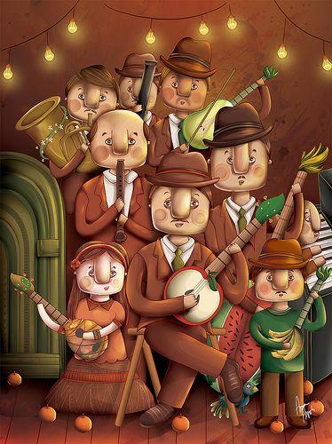 Los Musicos Releitura De Fernando Botero Art Fernando Botero