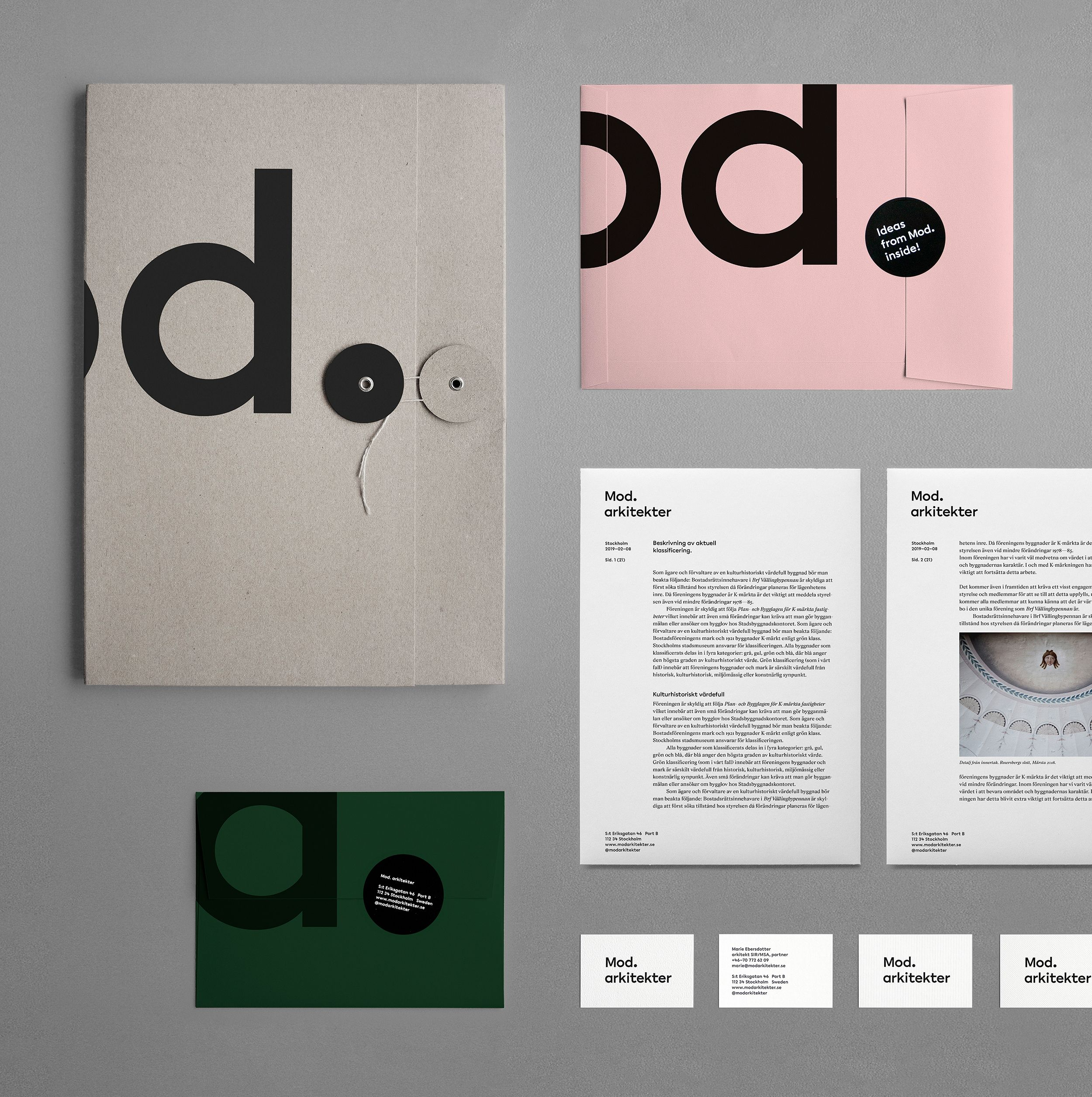 Mod Architects / Visual Identity on Behance Branding