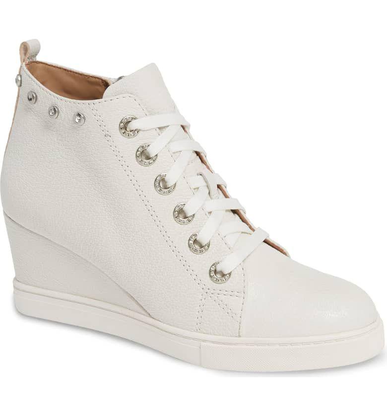 linea paolo flint wedge sneaker women
