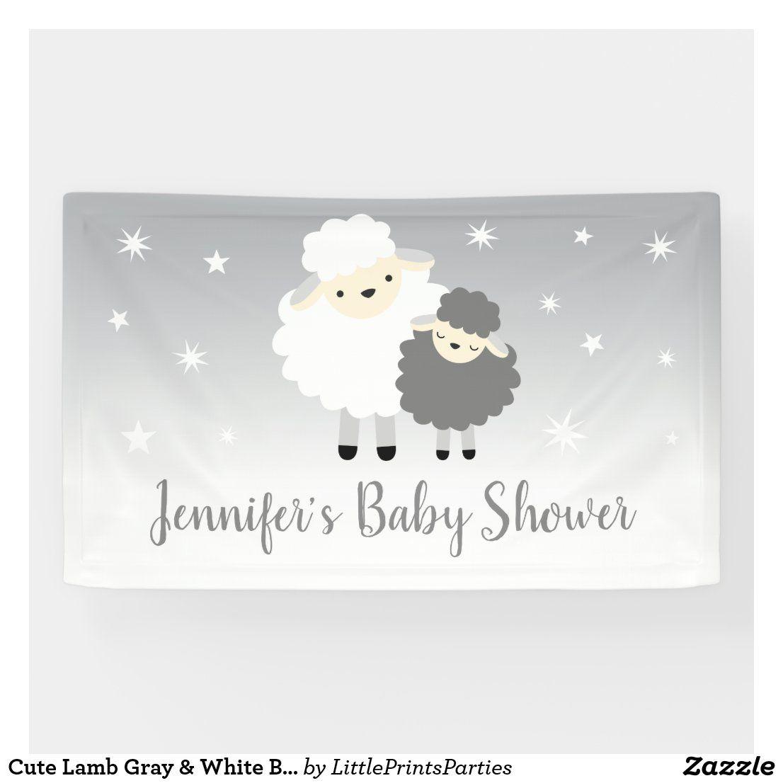 Lamb Baby Shower Custom Made Lamb Gender Neutral Baby Banner Lamb Baby Sign