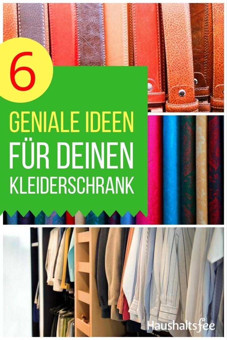 ordnung im kleiderschrank 6 geniale beispiele haushalt pinterest kleiderschrank schrank. Black Bedroom Furniture Sets. Home Design Ideas